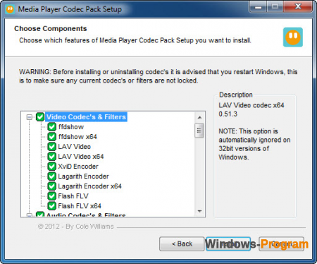 Media Player Codec Pack 4.4.5