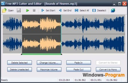 Free MP3 Cutter and Editor 2.8.0.312