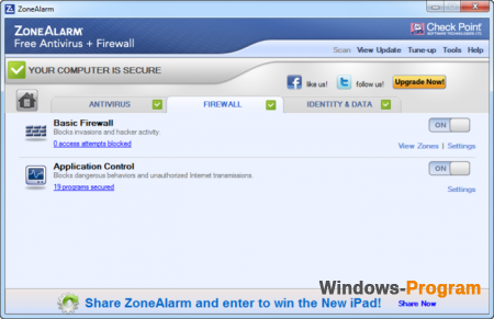 ZoneAlarm Free Antivirus + Firewall 15.1.504.17269
