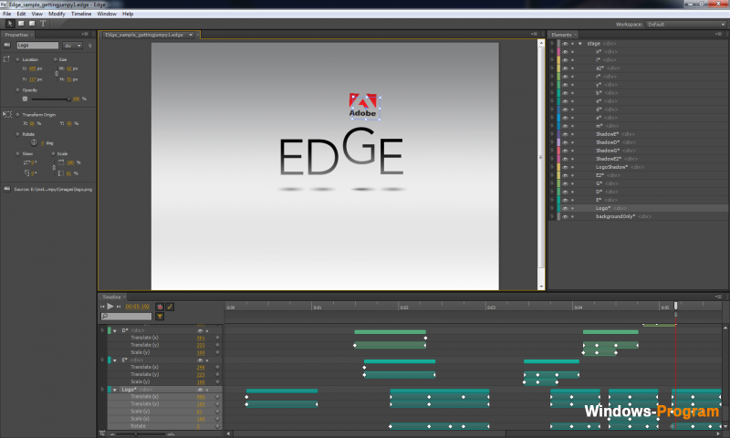 Скачать Adobe Edge Animate CC 2014