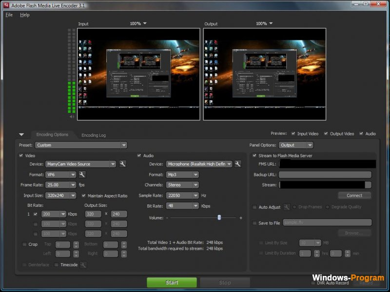 Adobe Flash Media Live Encoder 3.2