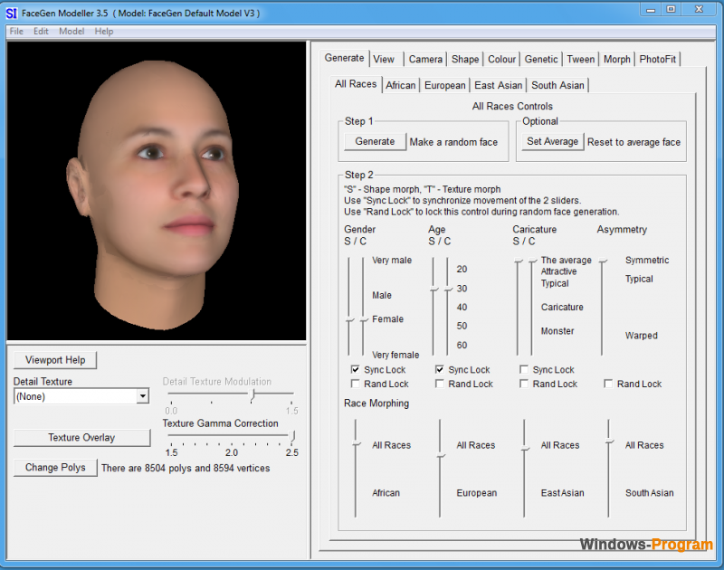 FaceGen Modeler 3.5.3 + Crack + торрент