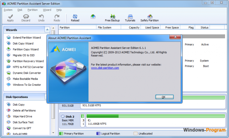 AOMEI Partition Assistant Standard Edition 6.5