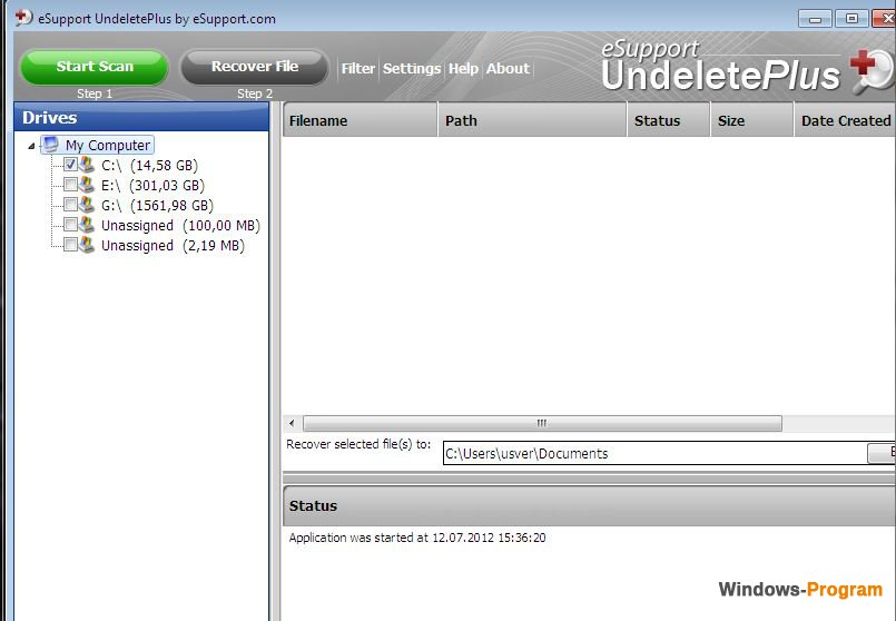 undelete plus 3.0.3.521 with crack