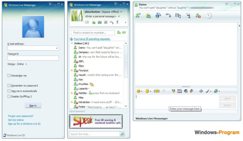 Windows Live Messenger 16.4.3522